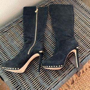 Michael Kors black suede boots